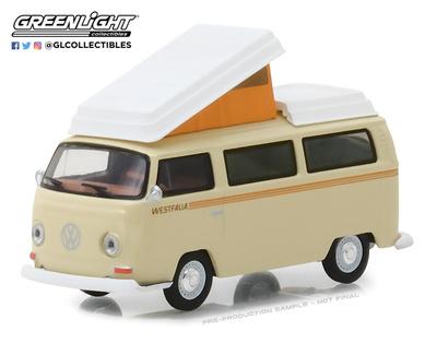 Volkswagen Tipo 2 Campmobile Westfalia (1972) Greenlight 1/64