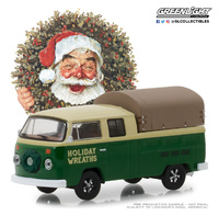 "Volkswagen Tipo 2 Doble Cabina ""Holiday Wreaths"" (1978) Greenlight 1/64"