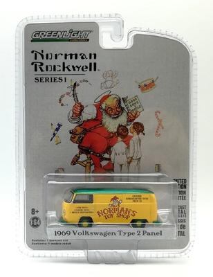 "Volkswagen Tipo 2 ""Norman's Toy Shop"" (1969) Green Machine 1/64"