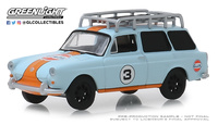 "Volkswagen Type 3 Squareback ""Gulf Oil"" (1965) Greenlight 1/64"
