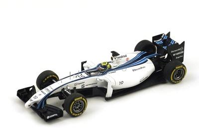 "Williams FW36 ""2º GP. Abu Dhabi"" nº 19 Felipe Massa (2014) Spark 1:43"