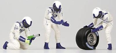 Williams Pitstop Cambio Neumáticos Delanteros (2002) Minichamps 1/43